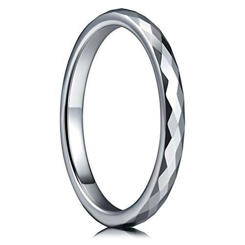tres claves  joyerí  mujeres anillo bodas tungsteno 2 mm m