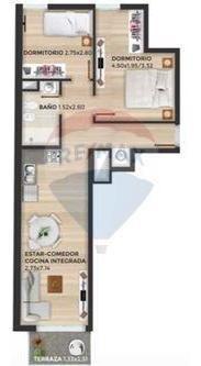 tres cruces, 2 apartamentos, 2 dormitorios, 2gge