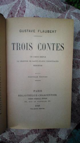 tres cuentos flaubert en francés 1926 tapas duras