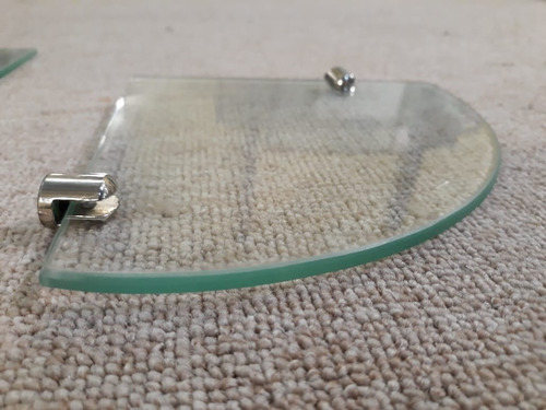 tres estantes esquineros vidrio 5mm  20x20 c/soportes