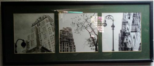 tres fotos blanco y negro manhattan new york montadas