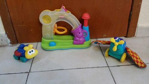 tres jugetes didacticos playscool fisher price