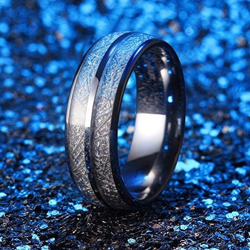 tres llaves 8 mm tungsteno anillo bodas  hombres forma cúp