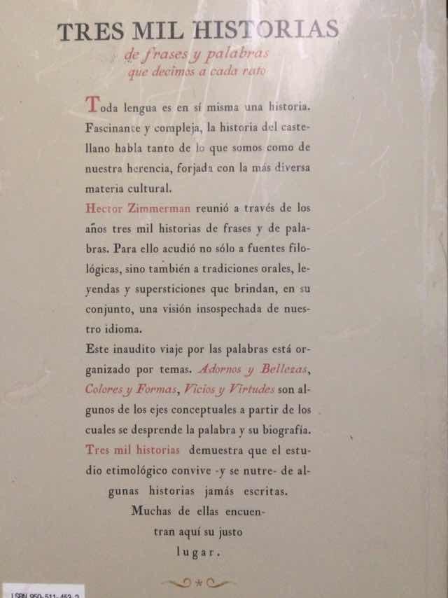 Tres Mil Historias De Frases Y Palabras Zimmerman H 162500