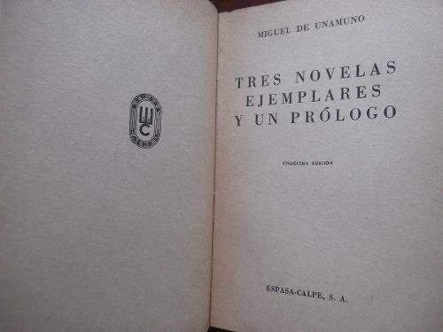 tres novelas ejemplares y un prologo miguel de unamuno austr