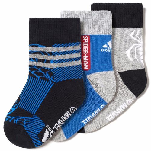 tres pares calcetines avenges spider man bebe adidas ay6479