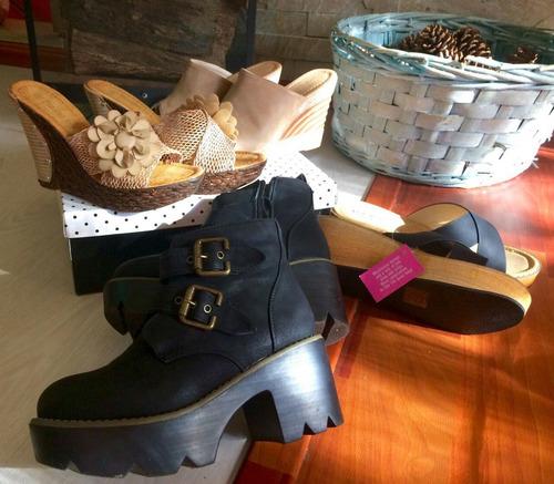 tres pares sandalias botas - en excelente estado - ahora !!!