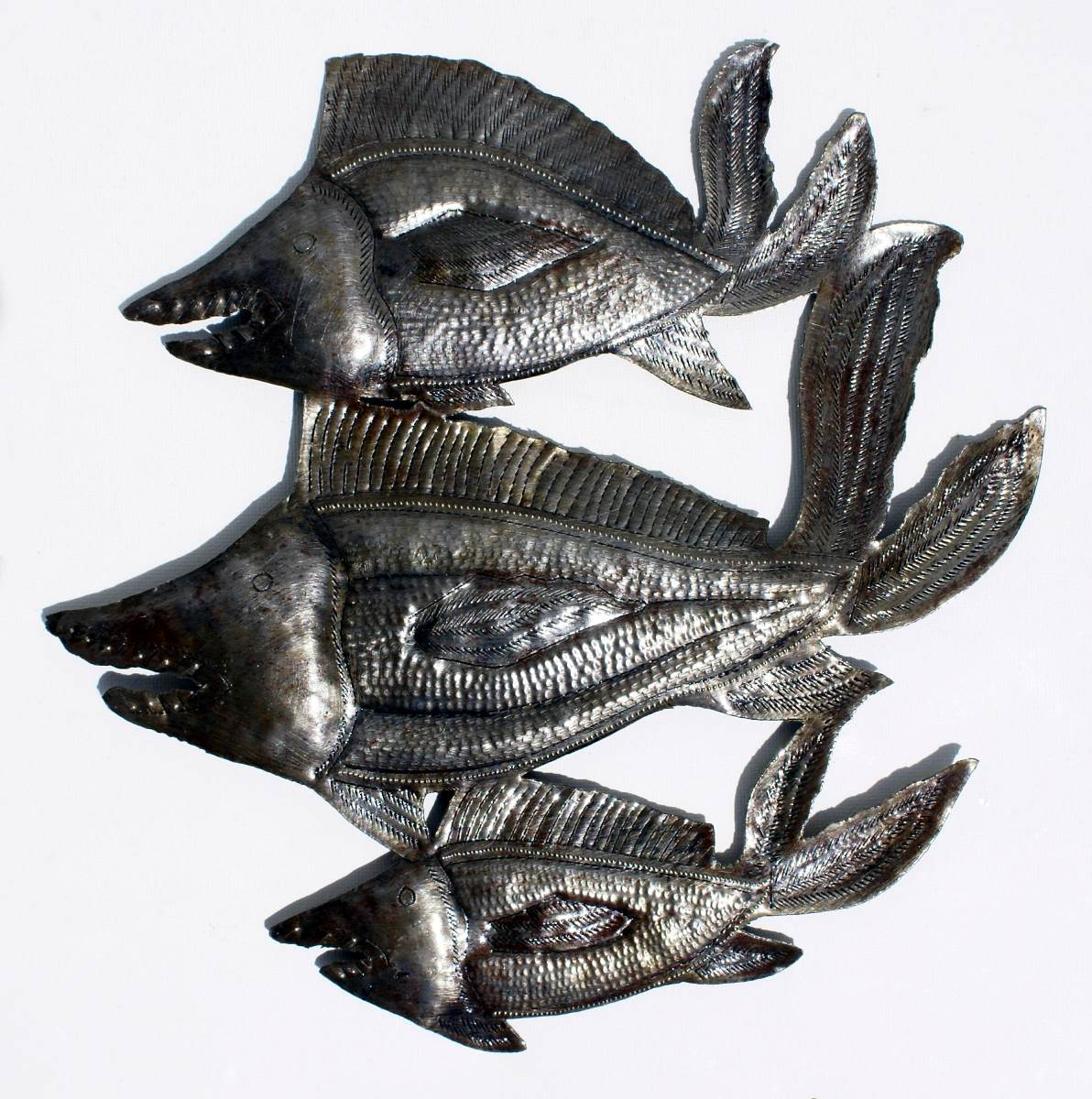 Tres peces decoracion de pared de metal hecho a mano 35cm for Adornos pared metal