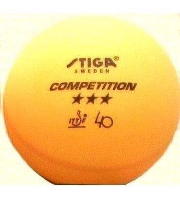 tres pelotas ping pong stiga competition 3 star profesional