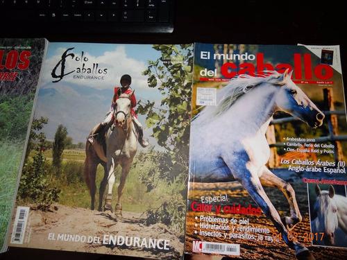 tres revistas de caballos