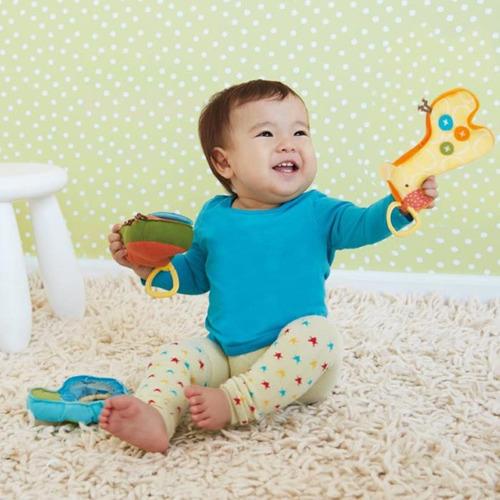 tres sonajeros  de peluche para bebe  skip hop