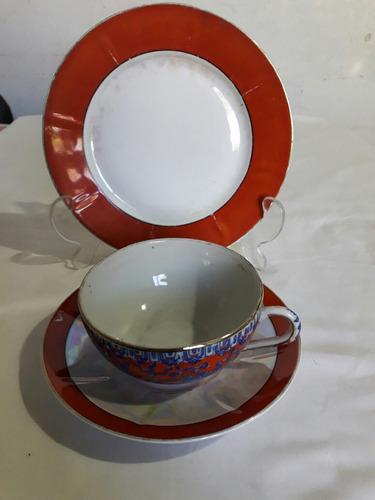 tres tríos en fina porcelana