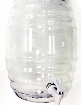 tres vitroleros barril con llave 22 litros( plástico pvc)