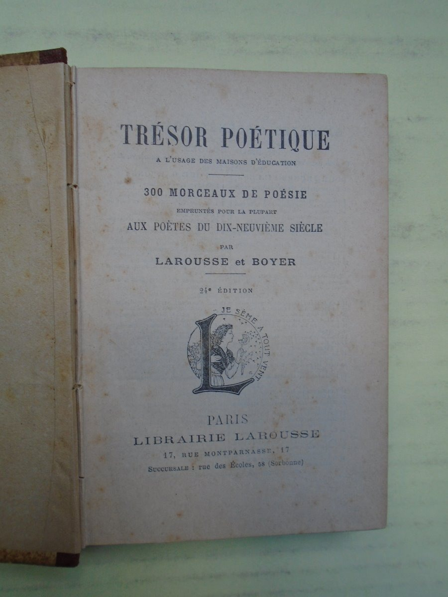 Tresor Poetique Larousse Boyer