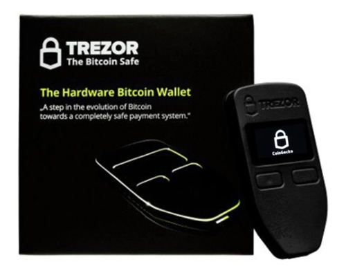 trezor wallet color negro hardware billetera seguridad