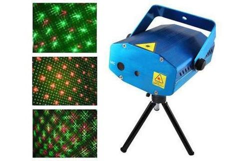 tri combo luces dj laser lluvia + flash audioritmico + led