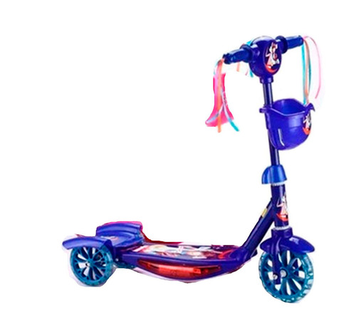 tri scooter monopatin musical con luz azul / chinatek