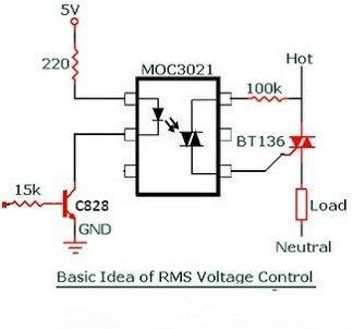 Triac Bta41600b     Diac    Moc3021 Opto Acoplador Arduino Pic