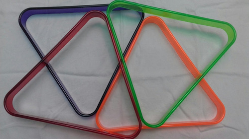triangulo de billar plastico grueso. color tipofluorescente.