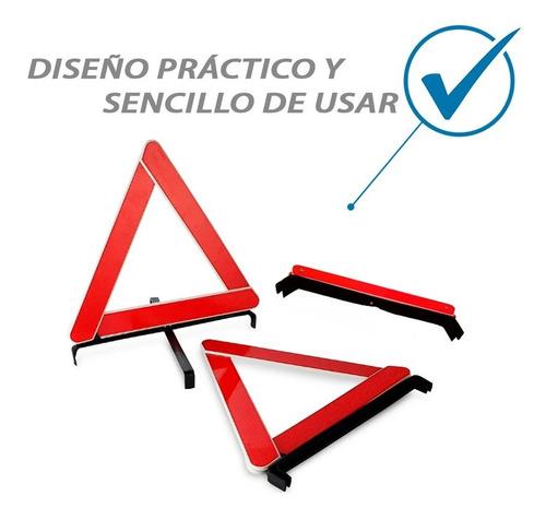 triangulo de emergencia vial x2 uni/reflectivo auto/separado