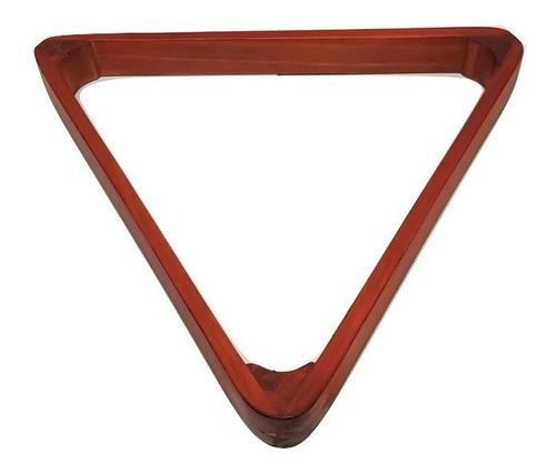 triangulo de madera para bolas de mesa de billar