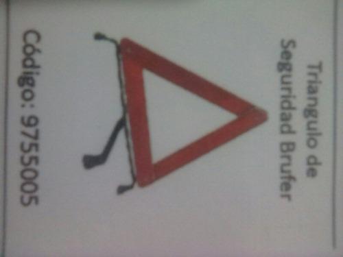 triangulo de seguridaf brufer c/estuche plastico