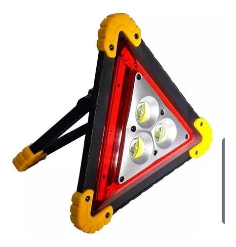 triangulo luz led emergencia ,transito, vial recargable