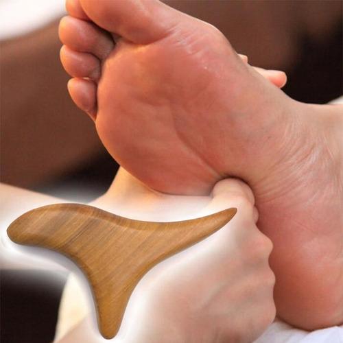 triángulo masaje madera,drenaje linfático shiatsu masajeador