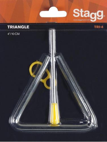 triangulo percusiòn banda ritmica stagg tr-4  4 /10 cm