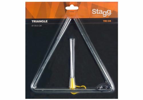 triangulo stagg tri-08 8 20 cm incluye golpeador envios
