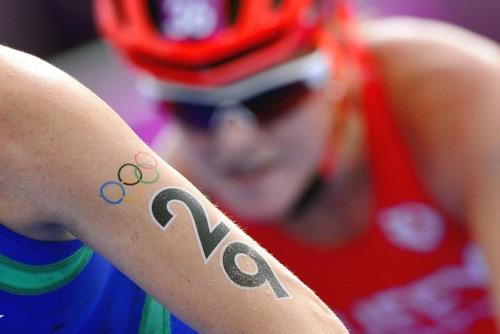 triatlon números tatuajes temporales