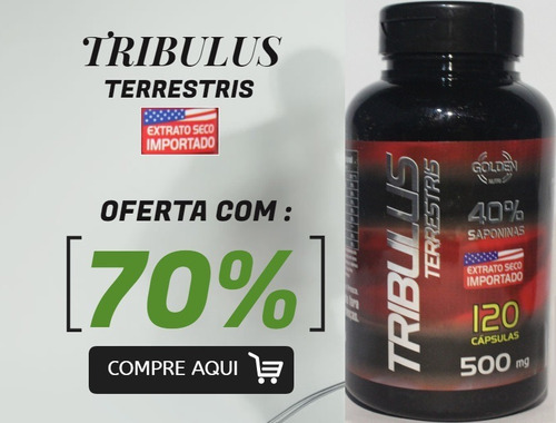 tribulus terrestris 120 cáps golden extrato seco importado
