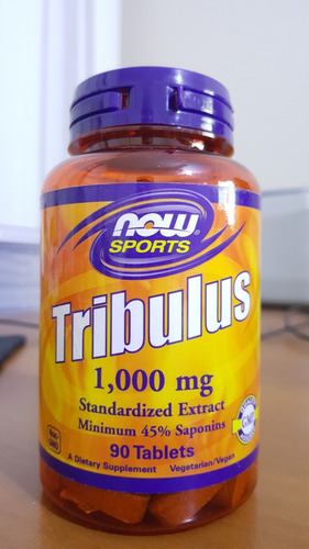 tribulus terrestris now (1g/dose) - 90 tabletes - importado