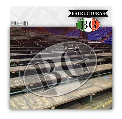 tribunas - gradas tubulares - palcos - plateas