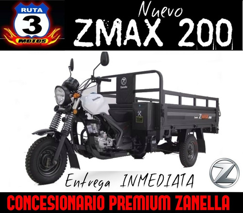 tricargo zanella zmax 200 z4 utilitario 0km 2018
