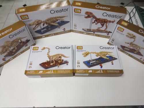 triceratops fosil miniblocks envío gratis dinosaurio 3d loz