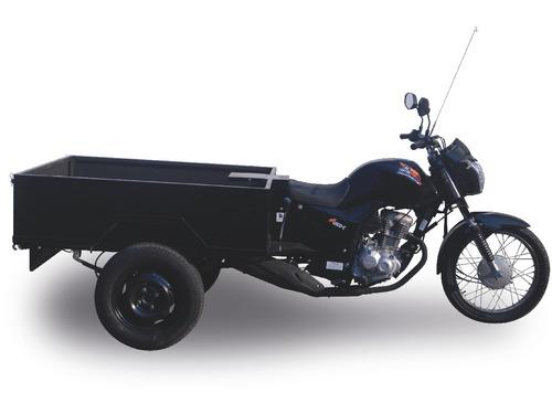 triciclo 160cc fusco motosegura caçamba aço 2019 300kg