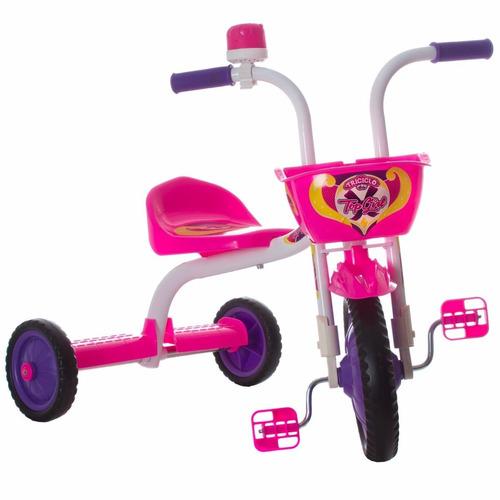 triciclo 3 rodas bicicleta infantil menina ultra bike rosa