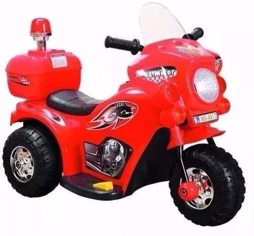 triciclo a bateria moto policia 6v chicos con luz y sonidos