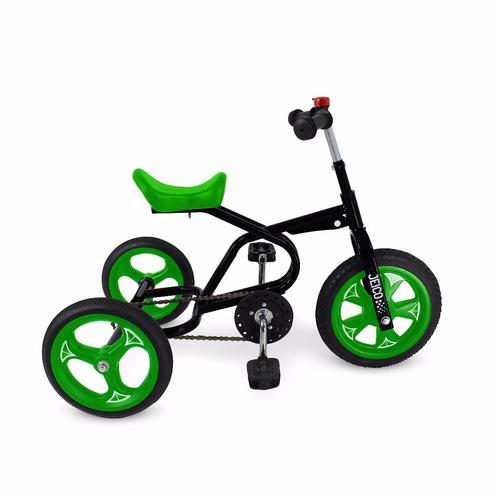 triciclo a pedal jeico britter soporta 50kilos rueda de goma