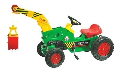 triciclo a pedales  grúa con pala juguete niños /as