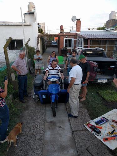 triciclo adaptado para usuarios de silla de rueda