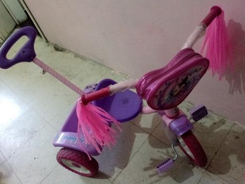 triciclo apache, rosa con lila, minnie mouse