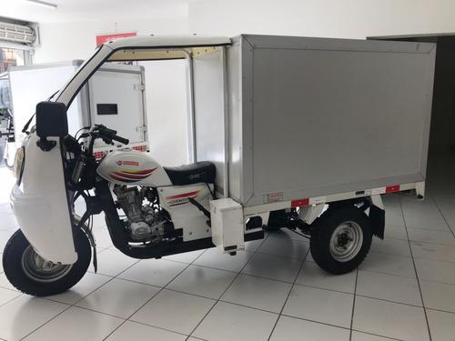 triciclo baú fechado 200cc - 4500km 2015 - motocar
