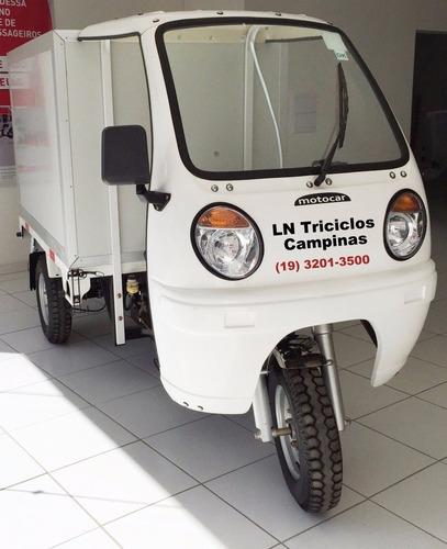 triciclo baú isotérmico 250, 2017, branco. motocar