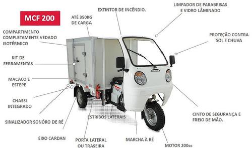 triciclo baú isotérmico mcf250 motor 250cc,2017, branco.
