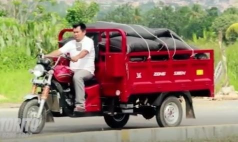 triciclo bencinero de carga marca zongshen, el mas fuerte