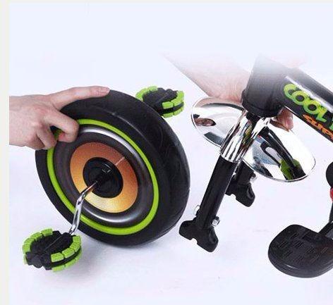 triciclo bfun de metal ruedas desmontables techo apoya pies