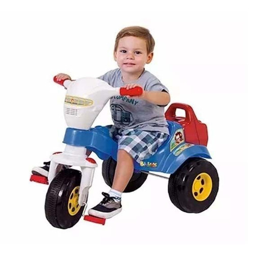 triciclo bichos azul aro e haste tico tico 3512 magic