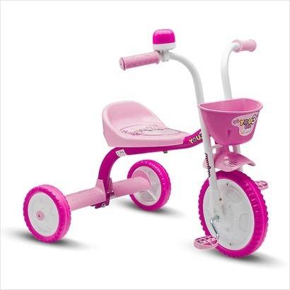 triciclo bicicleta infantil you 3 girl nathor rosa oferta